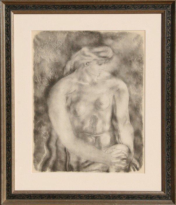 519: Georges Braque, Nu aux Feuilles, Lithograph