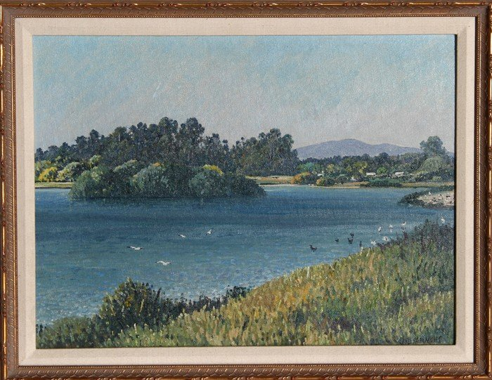 773: Carl Sammons, Santa Barbara, Oil Painting