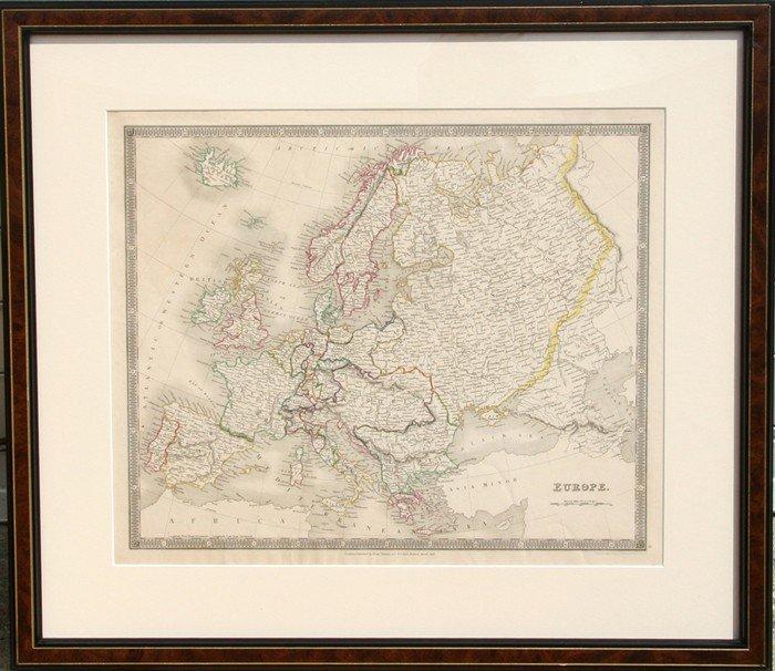 7: John Dower, Map of Europe, Engraving