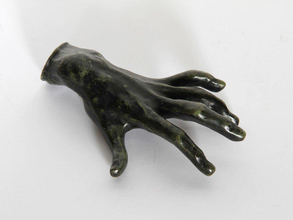 11: Auguste Rodin, Hand 1, Bronze Sculpture