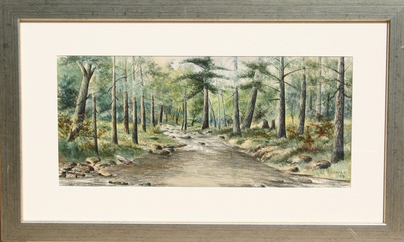12: Hagerman, untitled (Forest Path), Watercolor