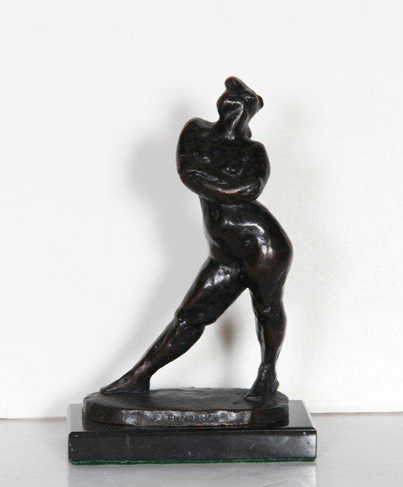 14: Wilhelm Lehmbruck, Standing Nude, Bronze Sculpture