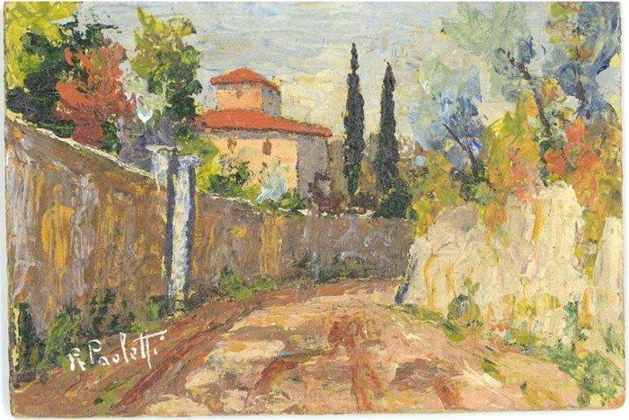 20: Renzo Paoletti, Italian Landscape - II, Oil Paintin