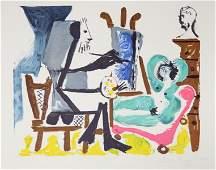 89: Pablo Picasso, Le peintre et son modele, 26-9, Lith