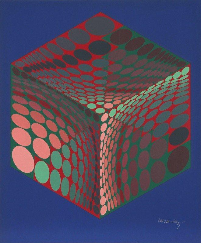 163: Victor Vasarely, Parmenide, Serigraph