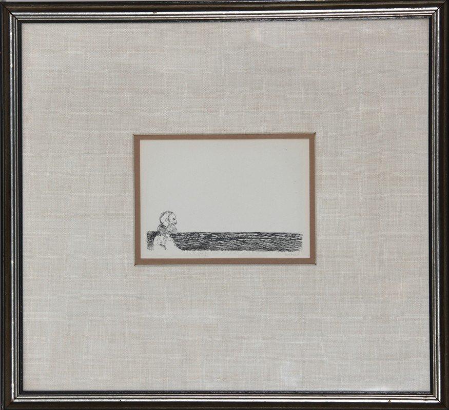 193: Leonard Baskin, Profile of a Man, Etching