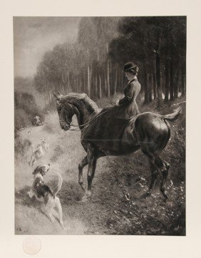 5: Woman on Horse, Photogravure