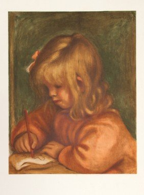 Pierre-Auguste Renoir, Girl Drawing, Lithograph