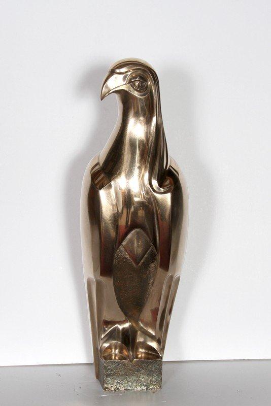 9: Prince, Falcon, Bronze Sculpture