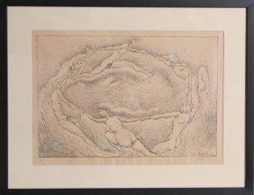 12: Rudolf Bauer, La Ronde, Lithograph