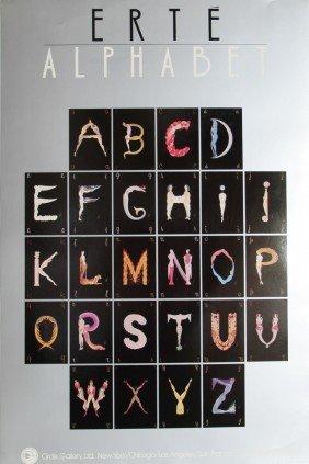14: Erte, Alphabet Suite, Poster