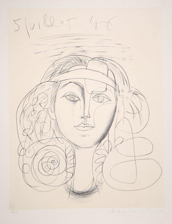 19: Pablo Picasso, Portrait de Femme, Lithograph