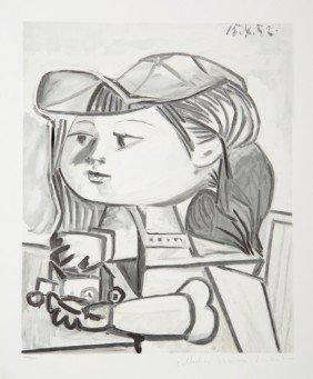 20: Pablo Picasso, Buste De Petite Fille, Lithograph