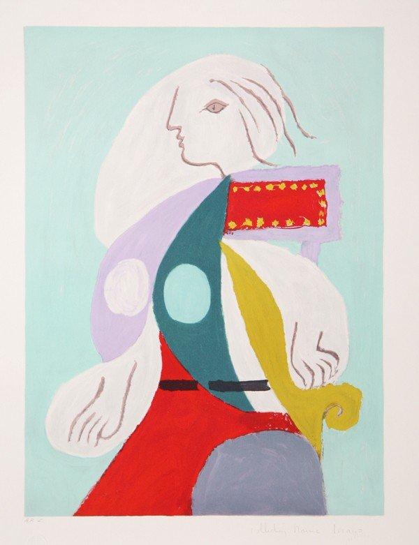21: Pablo Picasso, Femme A La Robe Multicolore, Lithogr