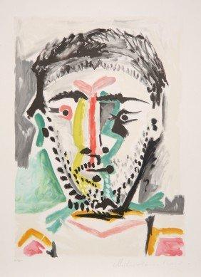 22: Pablo Picasso, Portrait D'Homme, Lithograph
