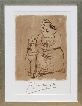 23: Pablo Picasso, Maternite, Lithograph