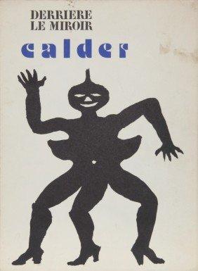 Alexander Calder, Derrier Le Miroir (Cover), Lithog