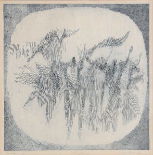 78: Harold Altman, Reforce, Aquatint Etching