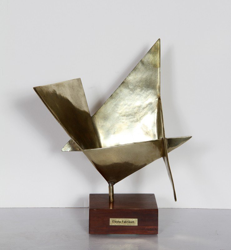 81: Elayne Fabrikant, Polished Bronze Sculpture