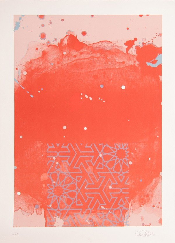 84: Hong Hao, Untitled (Red), Lithograph