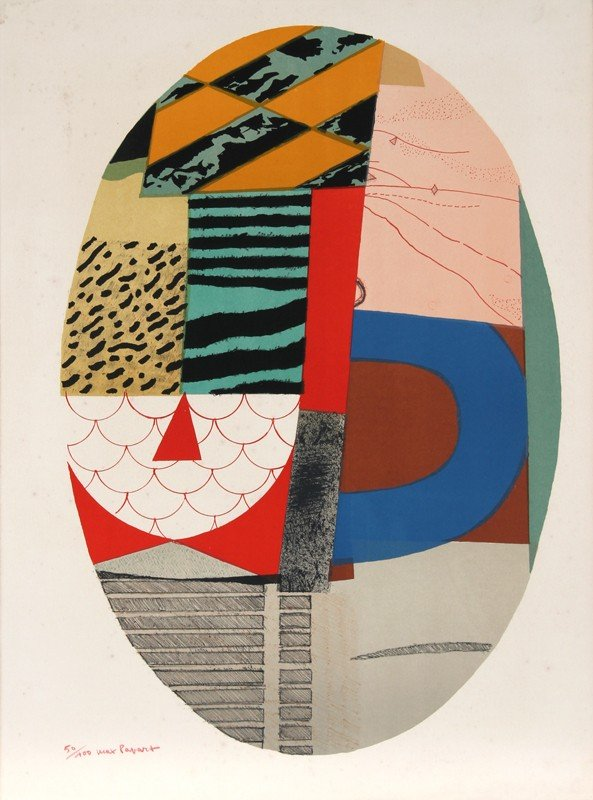 87: Max Papart, Untitled VIII, Aquatint Etching with Ca