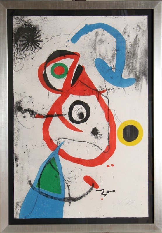 96: Joan Miro, Barcelona Series, Plate 8, Etching with