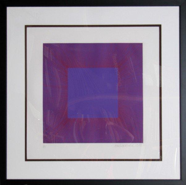 127: Richard Anuszkiewicz, Autumn Suite (Purple with Re