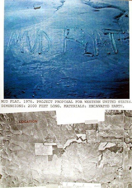 132: Dennis Oppenheim, Mud Flat, Lithograph
