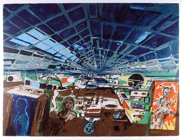 133: John Hultberg, Greenhouse, Lithograph
