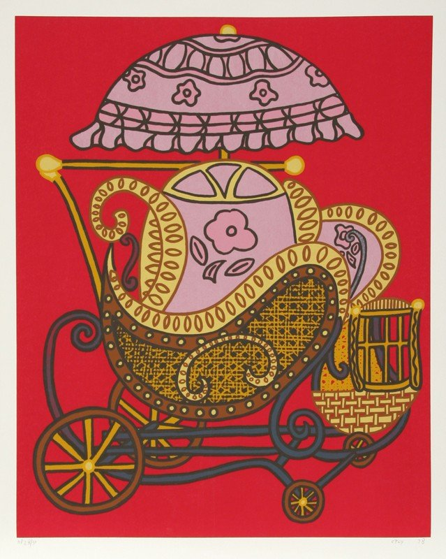 134: William Copley, Baby Carriage, Serigraph