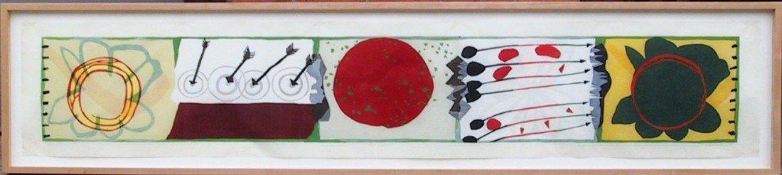 135: Charles Garabedian, Red Cloud, Woodcut