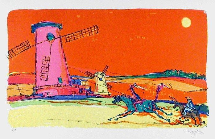 144: Alvin Carl Hollingsworth, Don Quixote 1, Lithograp