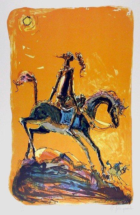 145: Alvin Carl Hollingsworth, Don Quixote 2, Lithograp