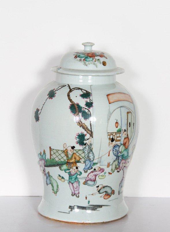 3: Chinese, Porcelain Urn