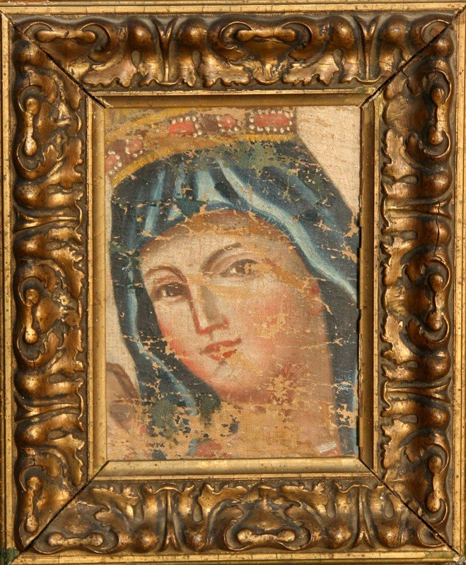 11: Madonna (possibly Byzantine), Oil Painting