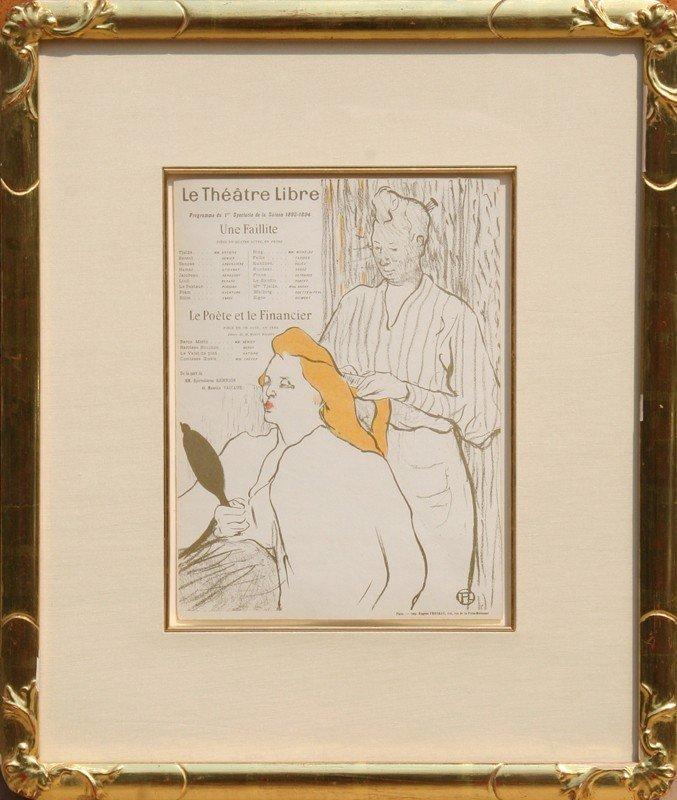 13: Henri de Toulouse-Lautrec, Le Theatre Libre / Le Co