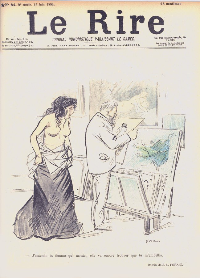 15: Jean-Louis Forain, Le Rire, No. 84, 10 Page Newspri