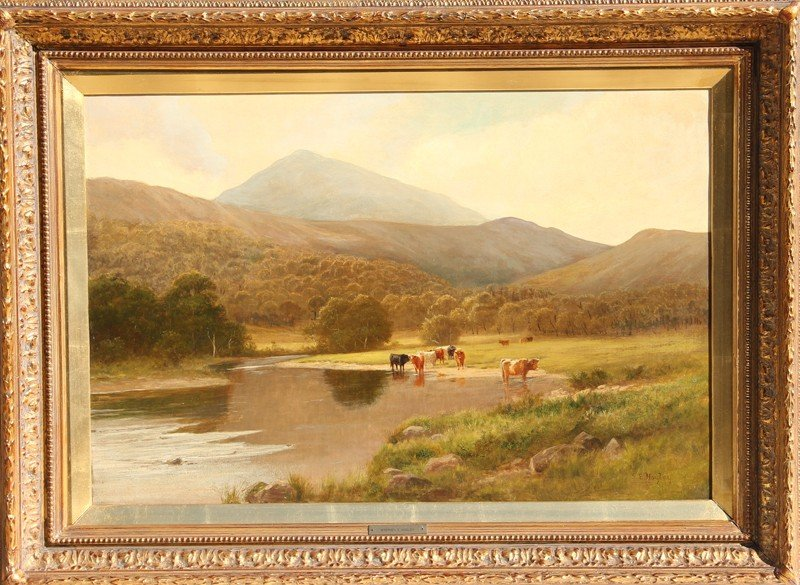 22: Stephen Enoch Hogley, Watering Hole, Oil Painting