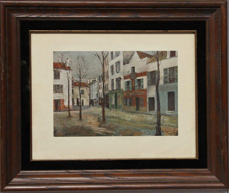 23: Maurice Utrillo, Street Scene, Poster