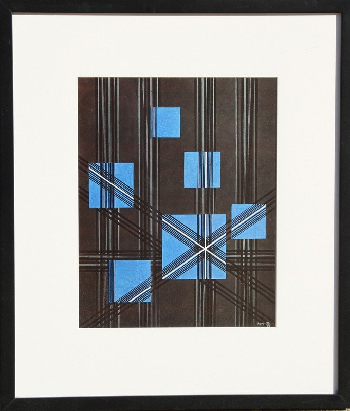 145: Herbert Bayer, Lot of Six Framed Prints from the B