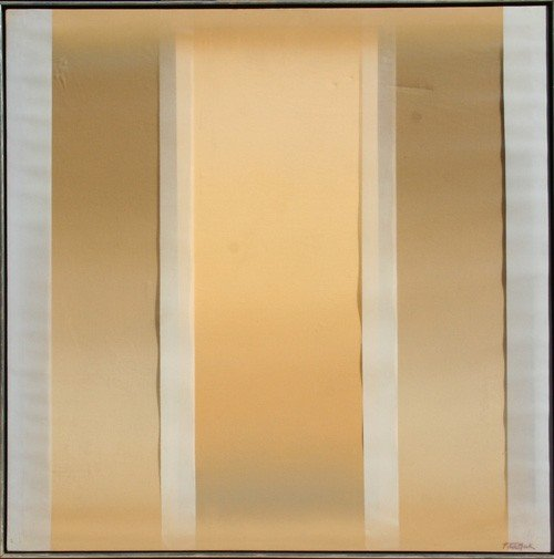 147: Peter Mack, Stripes One, Mixed Media Painting