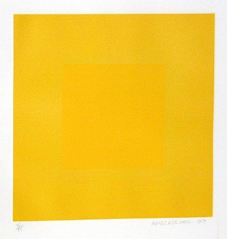 149: Richard Anuszkiewicz, Spring Suite (Yellow with Ye
