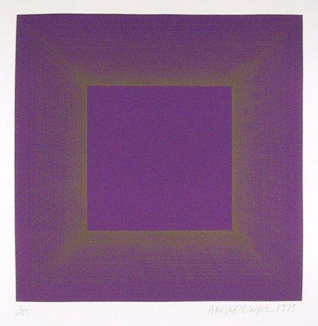 150: Richard Anuszkiewicz, Midnight Suite (Purple with
