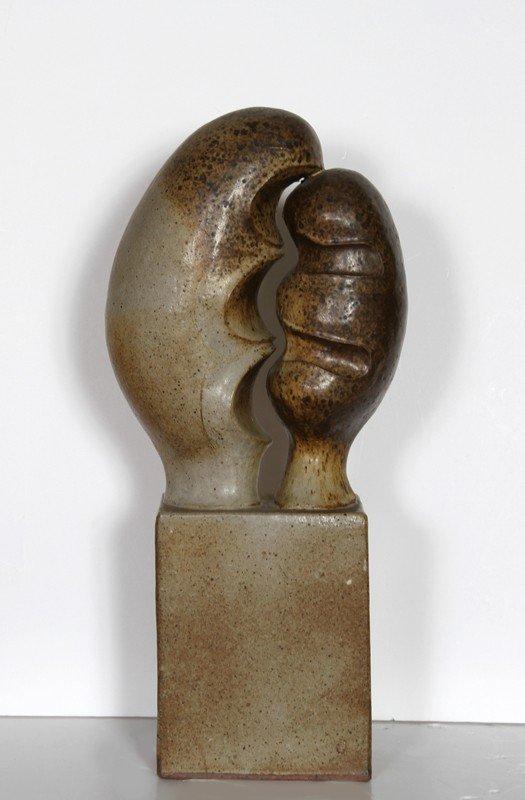 156: Santo Mignosa, Two Forms, Ceramic Sculpture