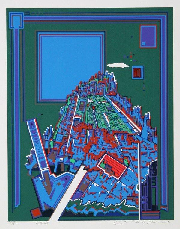 158: Risaburo Kimura, City 365, Serigraph