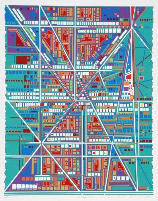 159: Risaburo Kimura, City 368, Serigraph