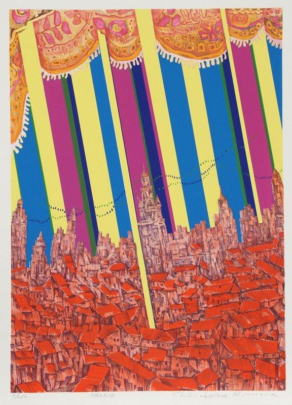 160: Risaburo Kimura, Madrid, Silkscreen
