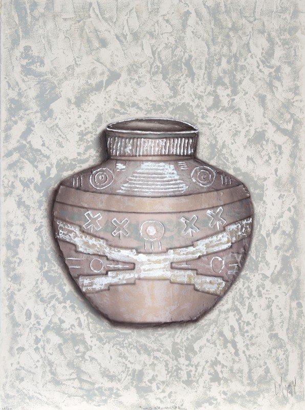 162: Luis Mazorra, Old Mexican Pot, Aquatint Etching