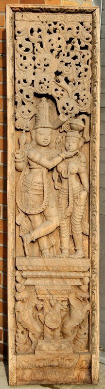 6: Thai, Teak Relief Woodcarving
