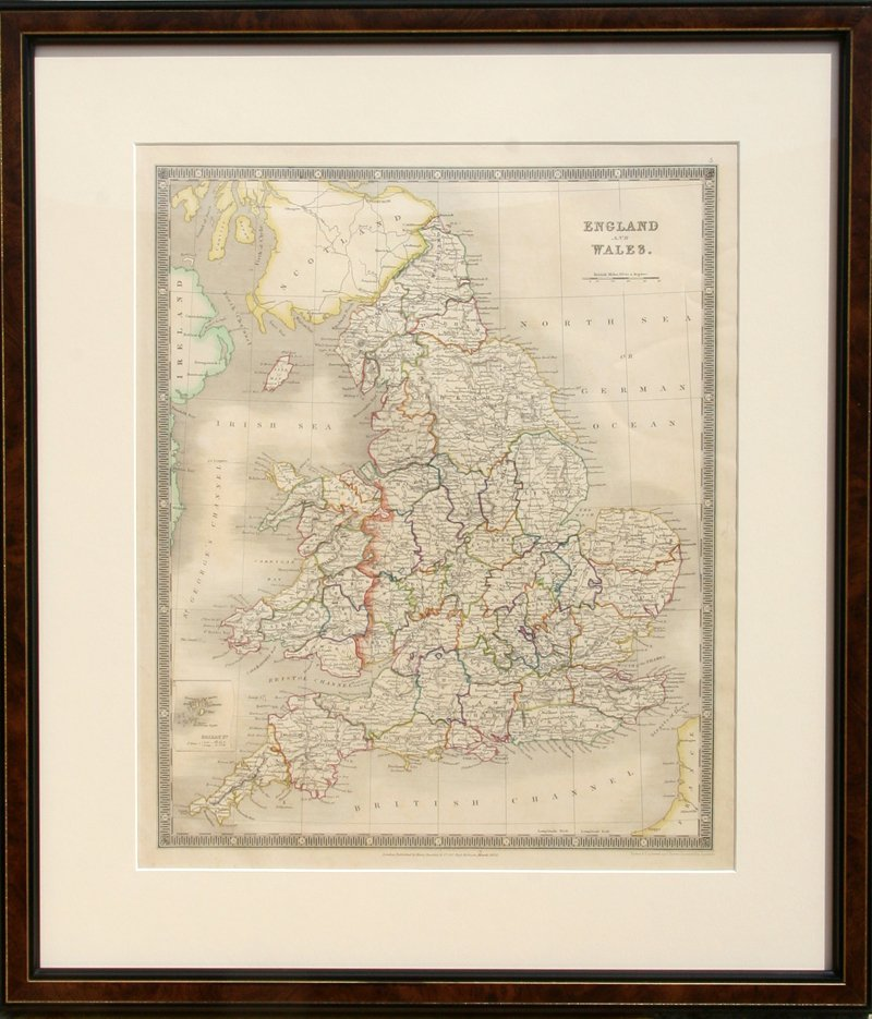 9: John Dower, Map of England and Wales, Engraving